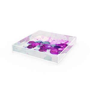 "Acrylic Tray in ""Dotscape Purple"""