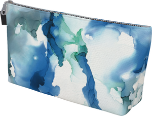 "Wristlet Clutch in ""Blue Abyss"""