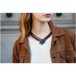 "Collier Batucada ""Cocktail"" - Gum Naturelle noire - Vegan"