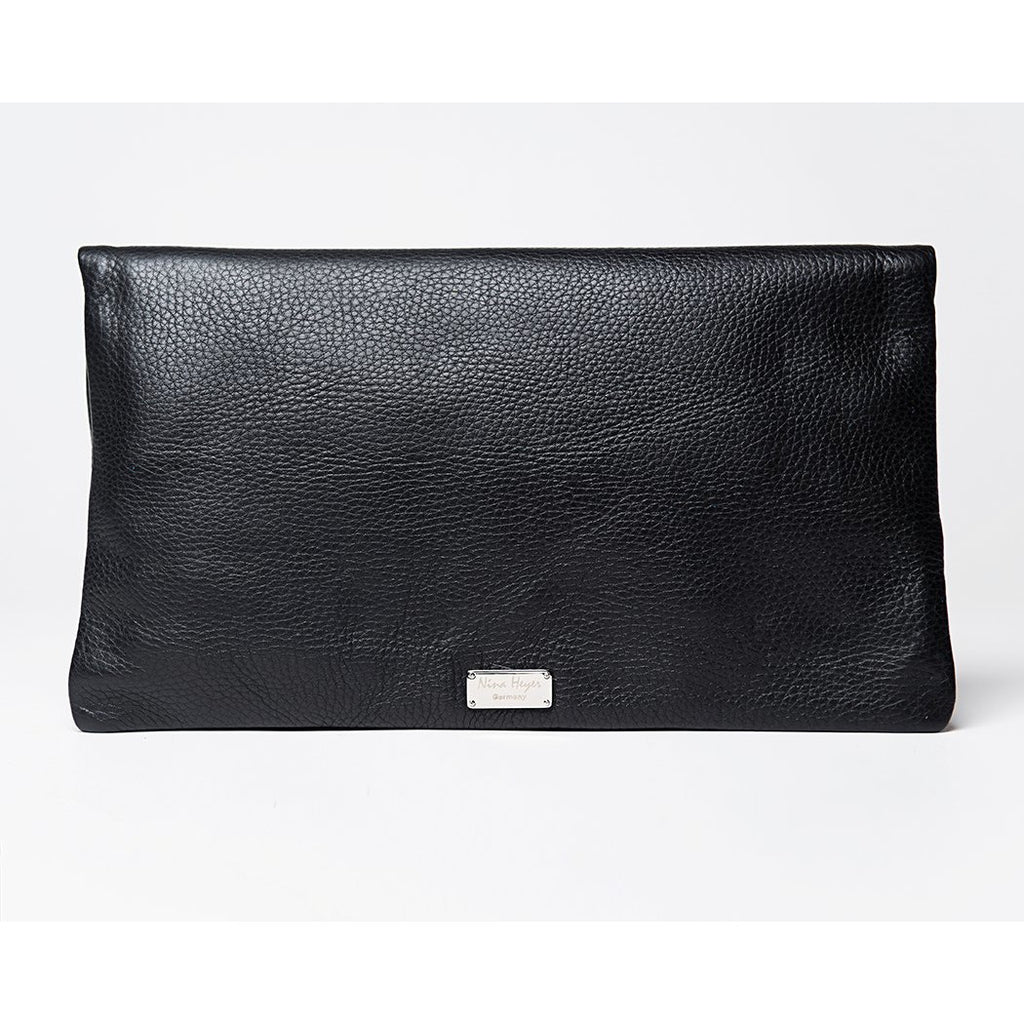 Trinity handbag / clutch / shoulder strap / full grain leather / Black