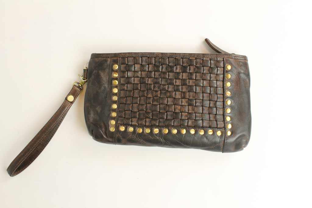 Sac Clutch Vintage - Cuir Fait Main - Local