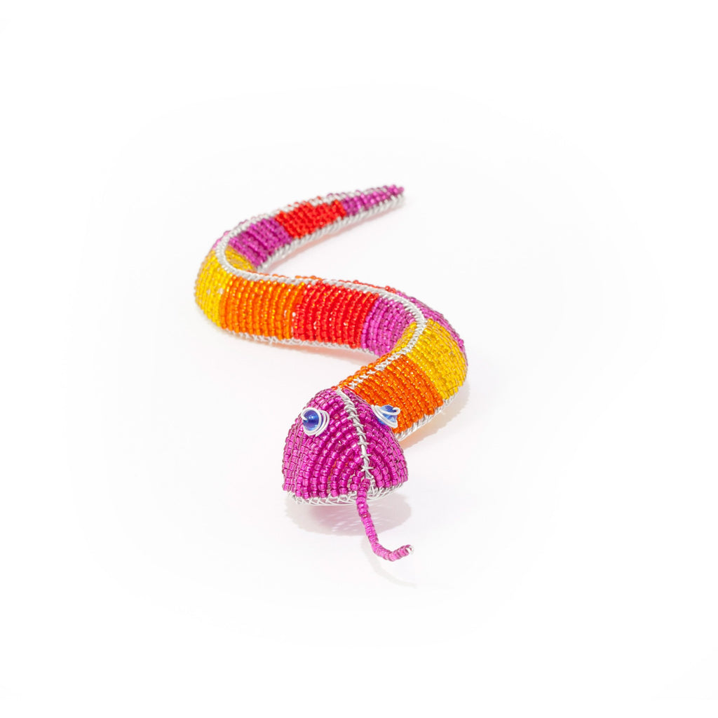 Serpent en beads multi-couleur