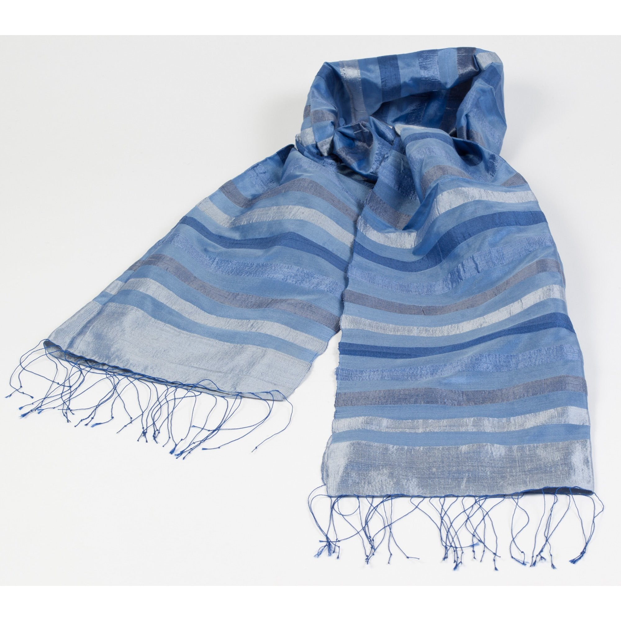 Foulard en pure soie du Laos / Collection Aquarelle