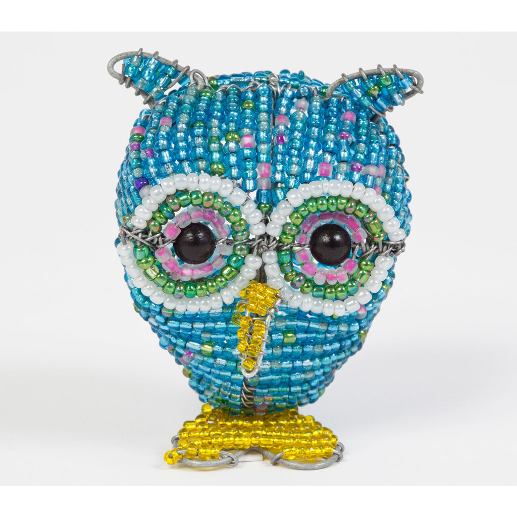 Hibou en beads multi-couleur
