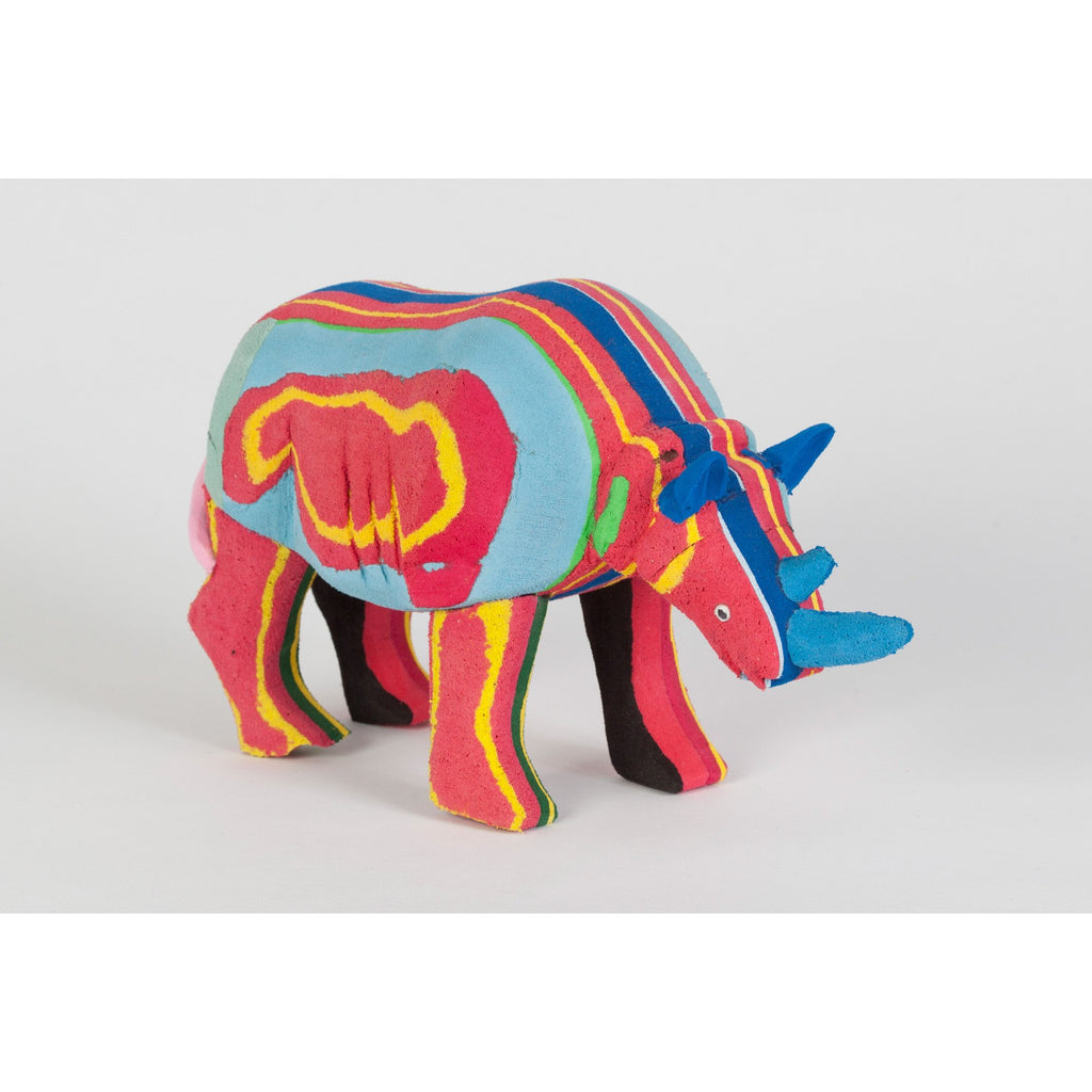 Animal Rhinoceros made from recycled flip-flop Kenya project