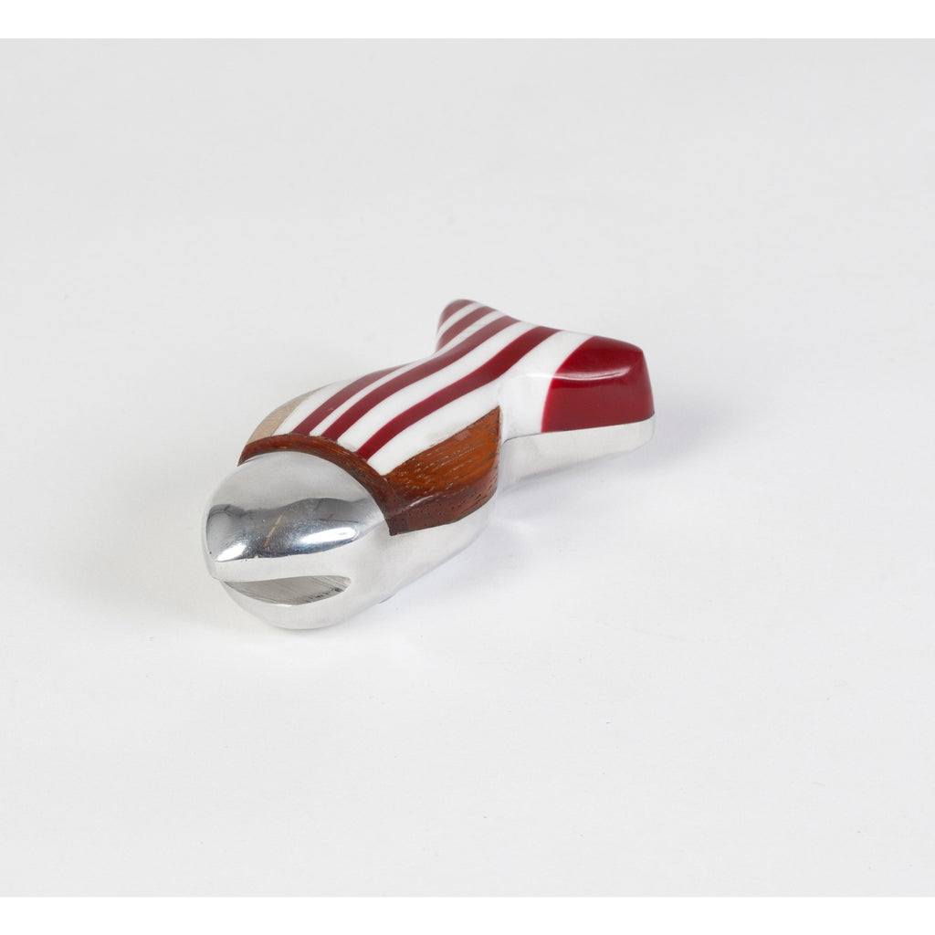 Bottle opener made of resin, plastic, aluminum and recycled wood / Philippines