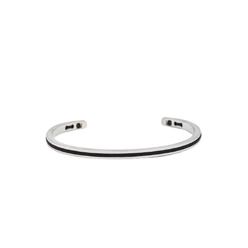 Bracelet P&H - NAVARCH 4MM 2mm ROUND ROPE - NAVY SILVER