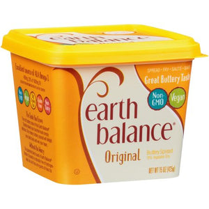 Earth Balance Original Buttery Spread (vegan butter) CONTAINS PALM OIL