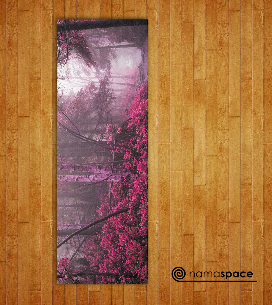 Pink Woods Yoga Mat