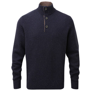 Schoffel Lambswool Chunky Button Neck Jumper