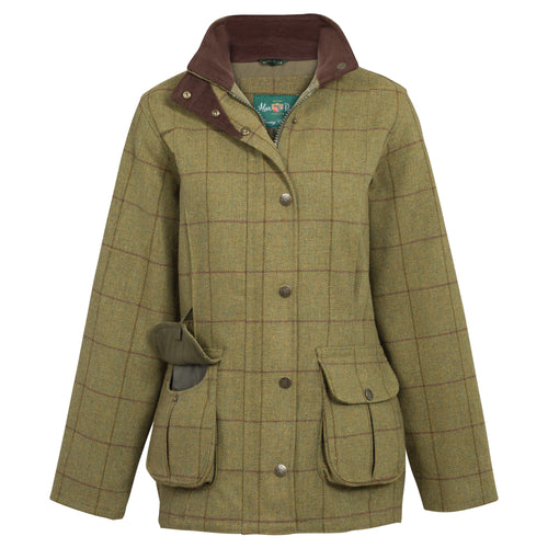 Alan Paine Women's Rutland Waterproof Tweed Coat