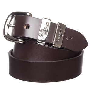 "R.M. Williams 1.25"" 3 Piece Solid Hide Belt"