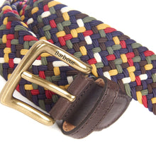 Barbour Tartan Stretch Belt In Gift Box