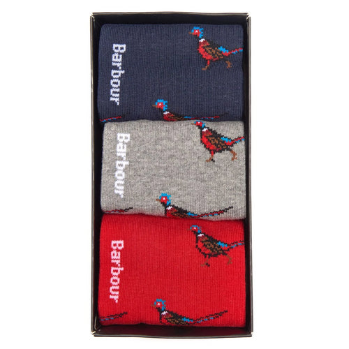 Barbour Pheasant Socks Gift Set