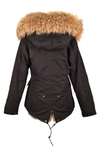 Popski Fur-Lined Short Parka