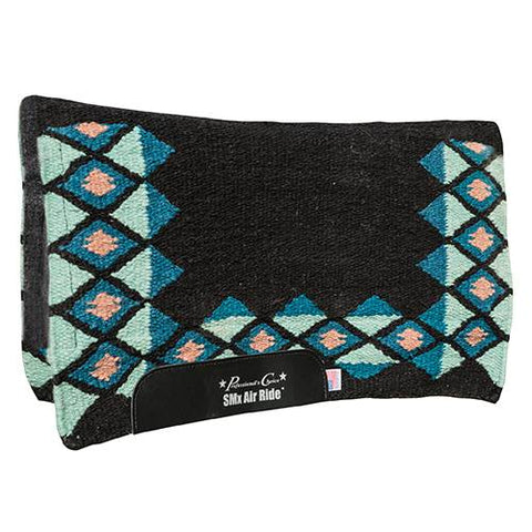 "Professional's Choice Comfort-Fit SMx 1/2"" Air Ride Saddle Pad: Quest - Black/Mint"