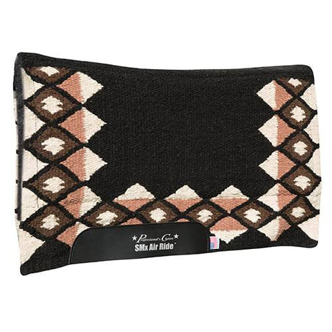 "Comfort-Fit SMx 1/2"" Air Ride Saddle Pad: Quest - Black/Tan"