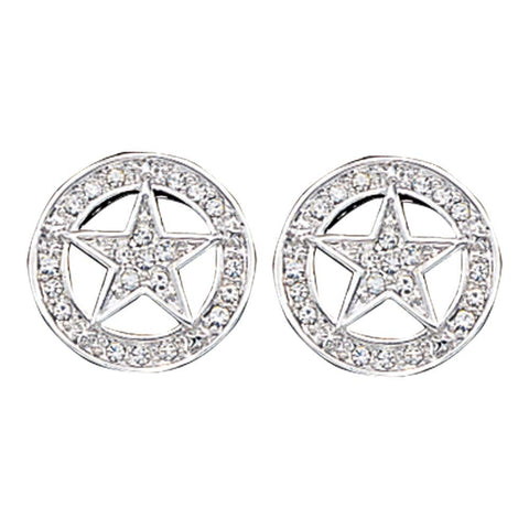 Montana Silversmiths Clear Rhinestone Star Studded Earrings