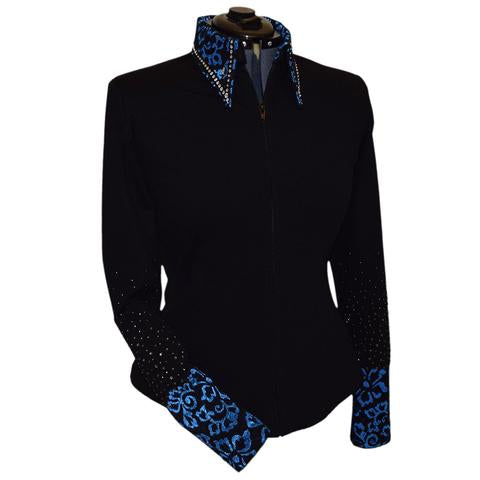 Blue Lace Show Jacket by Lisa Nelle
