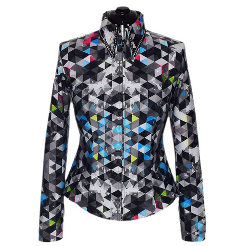Electric Prism Show Shirt by Lisa Nelle