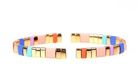 Gold Rainbow Stretch Bracelet