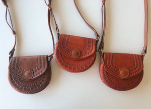 Small Tooled Crossbody Bag
