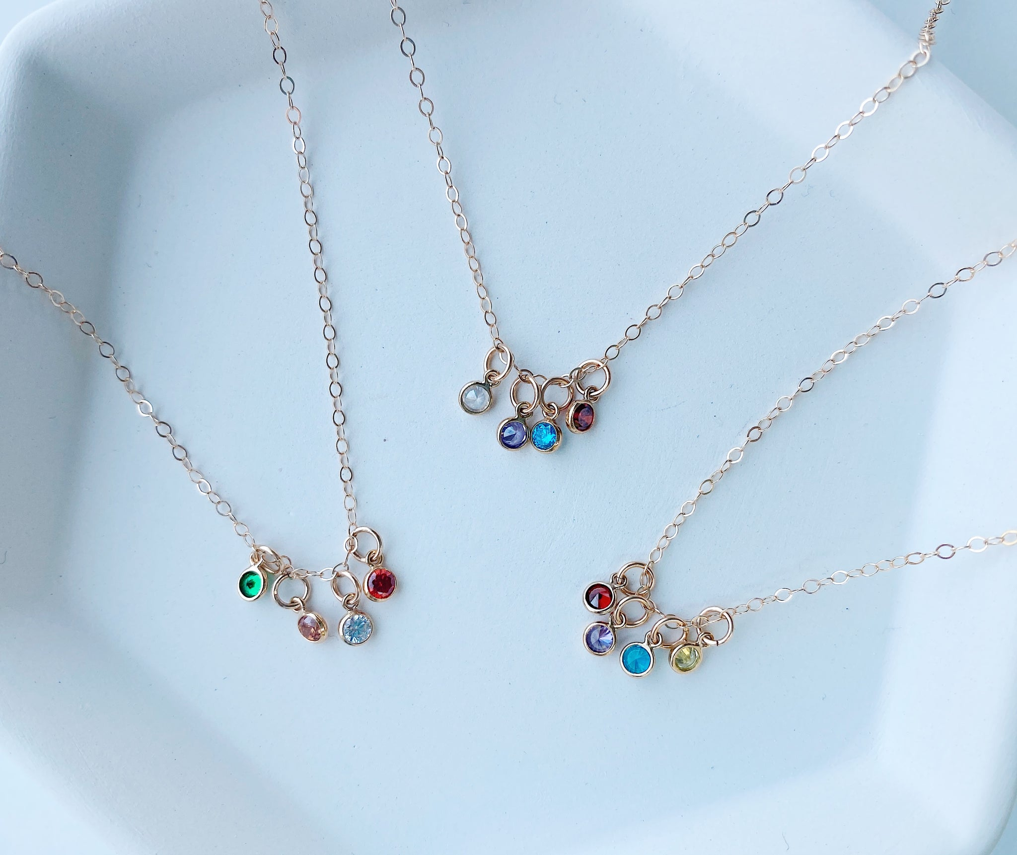 Quadruple Birthstone Necklace