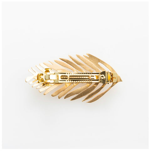 Brass Palm Barrette