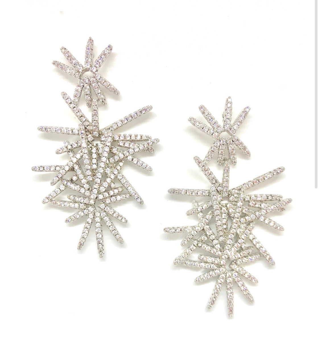 Silver Sparkler Earrings