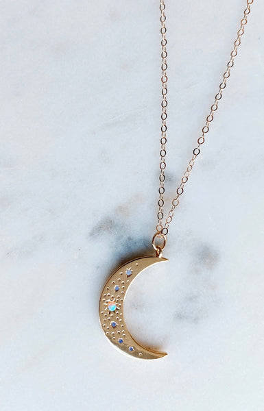 A Thousand Years Moon Necklace