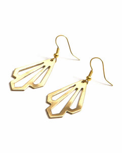 Illuminate Earrings Brass