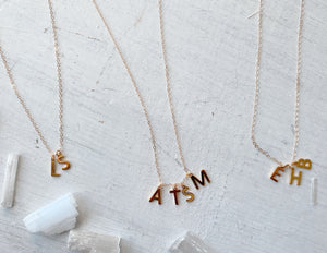 Quadruple Initial Necklace
