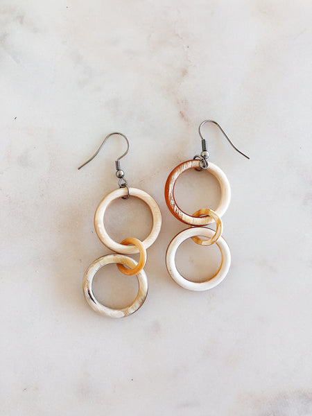 Horn Link Earrings