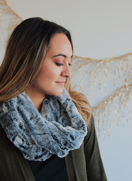 Margaret Crushed Faux Fur Scarf