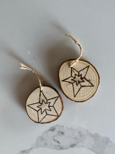 Star Wood Ornament