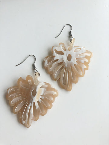Feather Horn Earrings