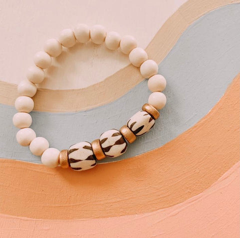 Recycled Collection Bracelet - Cream