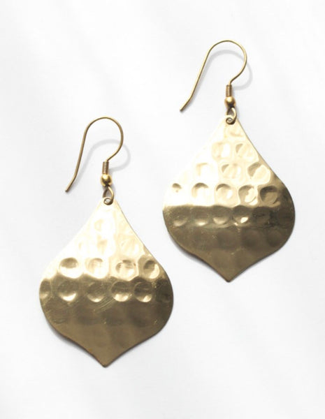 Golden Hammered Earrings