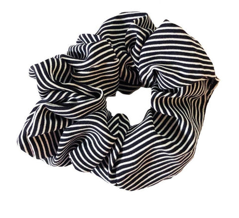 Black and White Scrunchie