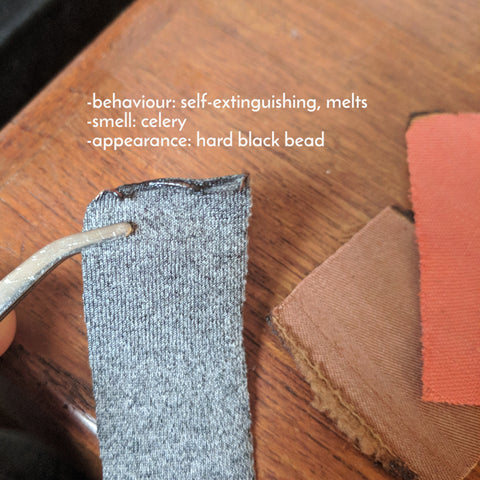 Matchpoint Fabric – Burn Test on Performance Fabric