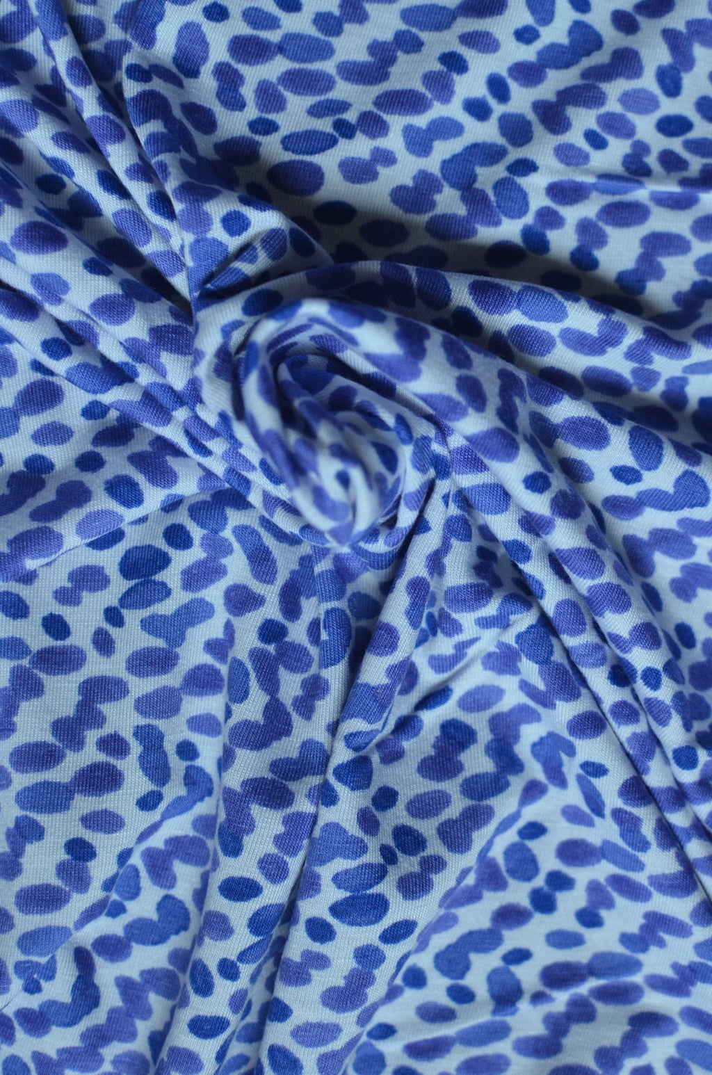 Remnant - Abstract Dots  – Rayon/Spandex Knit – .78 yard
