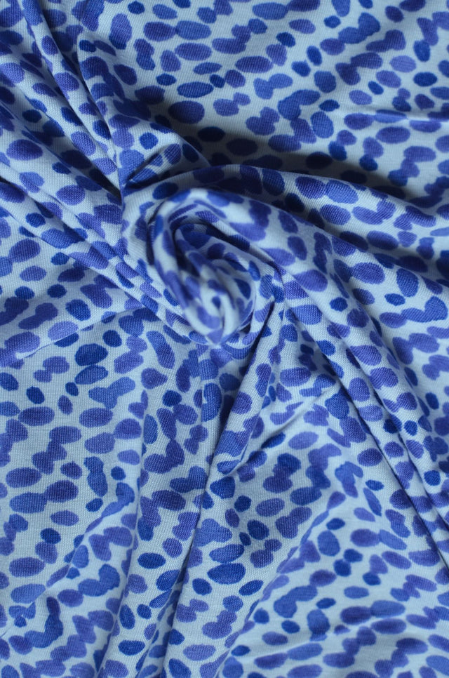 Abstract Dots  – Rayon/Spandex Knit – 1/2 yard