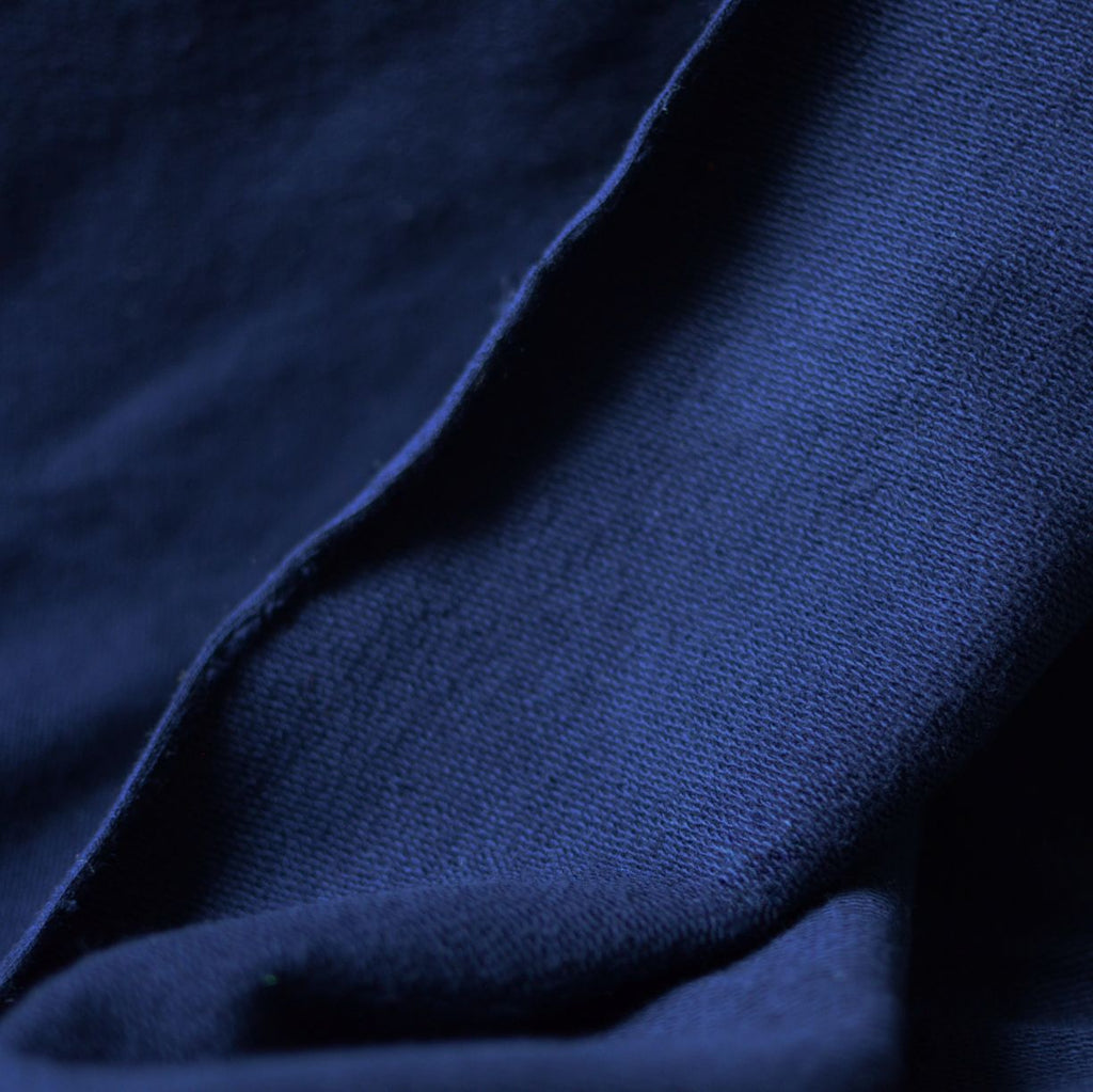 Navy – 100% Cotton French Terry – 1/2 yard