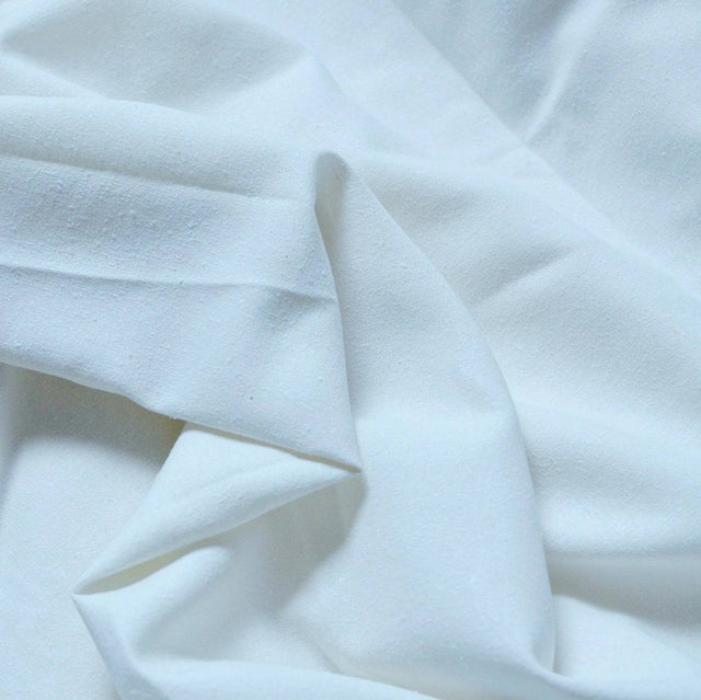 White – Silva Silk Noil – 1/2 yard