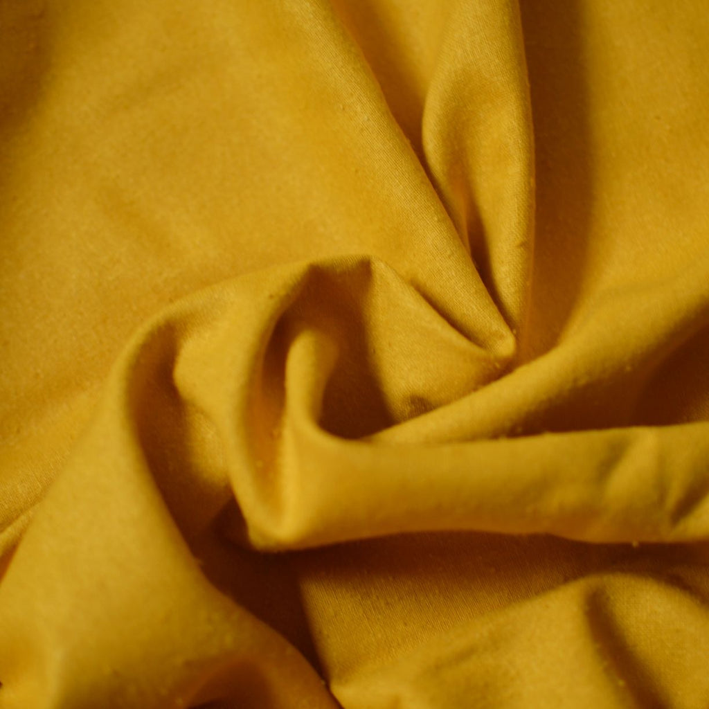 Sunflower – Raw Silk Noil – 1/2 yard