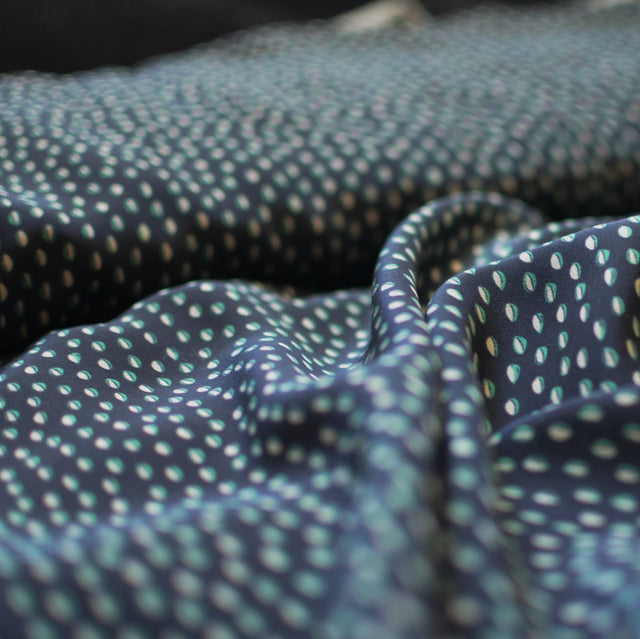 Oblong Dots Silk Print – 1/2 yard