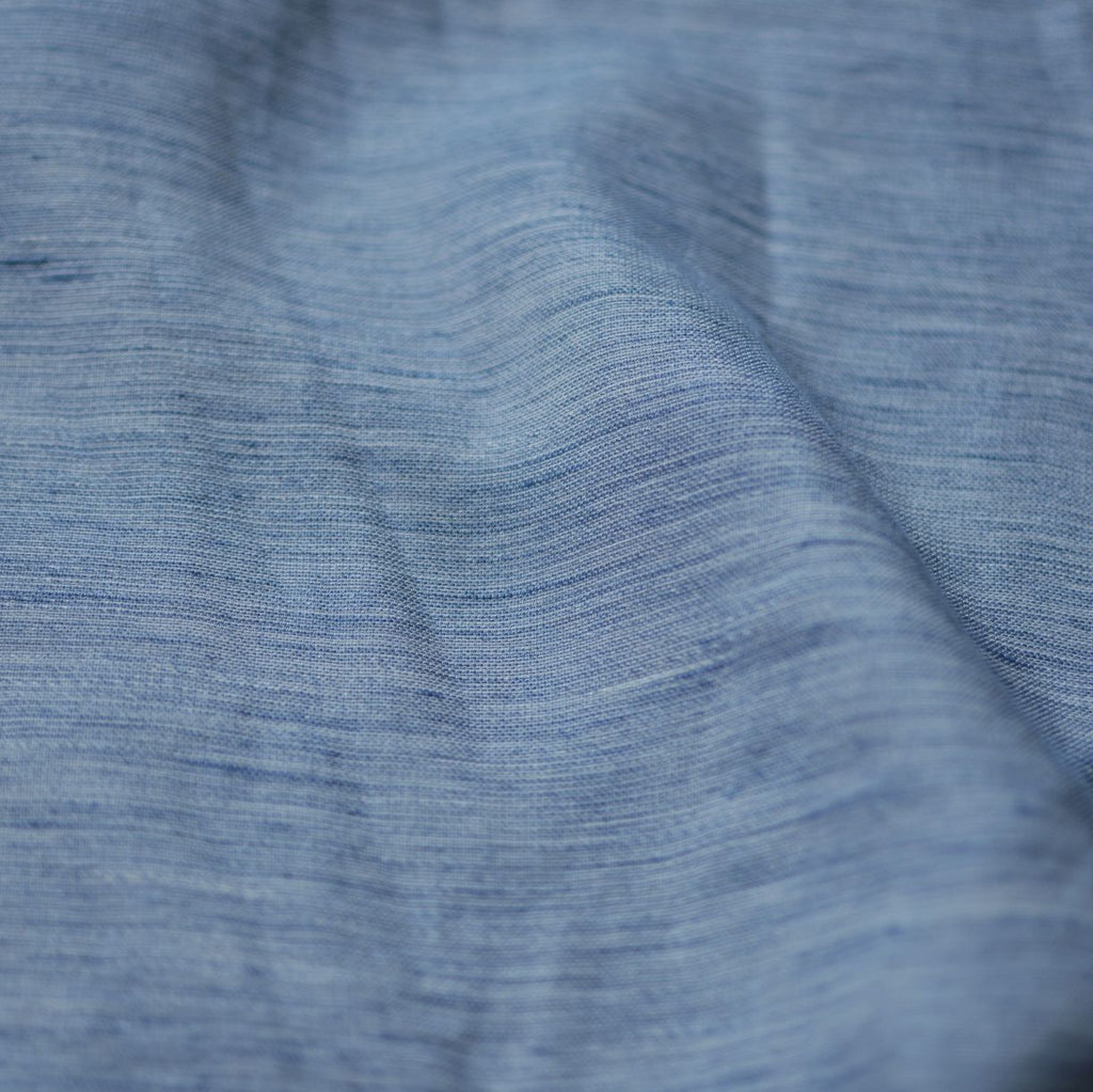 Remnant - Denim Blue - Marled Linen/Cotton  – .75 yard