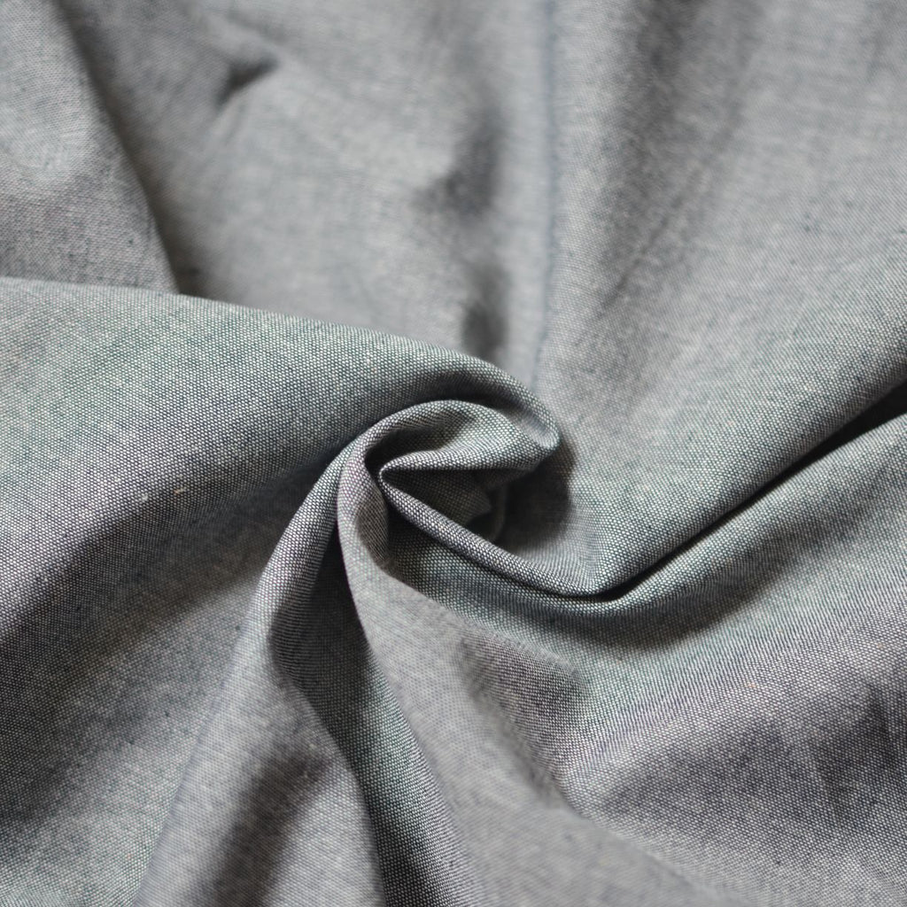 Remnant - Grey Chambray Shirting – 1.2 yards
