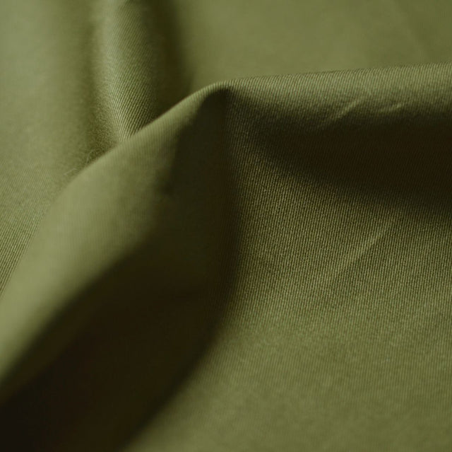 Remnant -  Moss – Gracey Organic Cotton 7 oz. Twill – 0.5 yard
