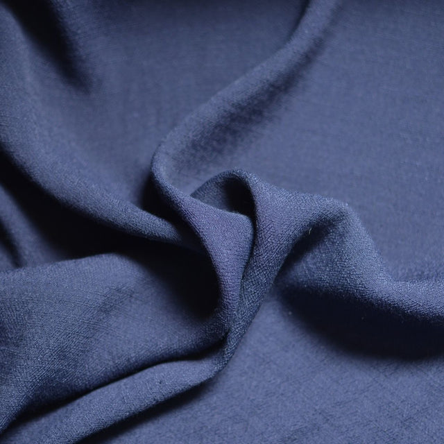 Navy – Textured Viscose Crepe – 1/2 yard